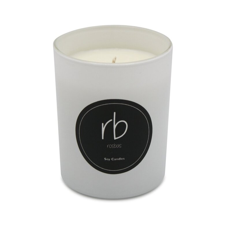 Milano Jar Candle Home Decor Glass Candle Black Orchid Fragrance