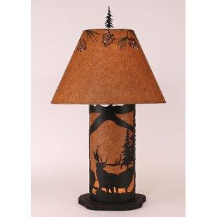 Glenlee Elk Scene 31.5 Table Lamp