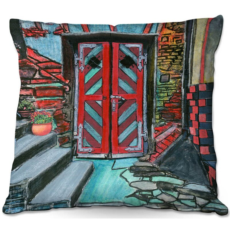 East Urban Home Couch Door Bottom Steps Square Throw Pillow Wayfair