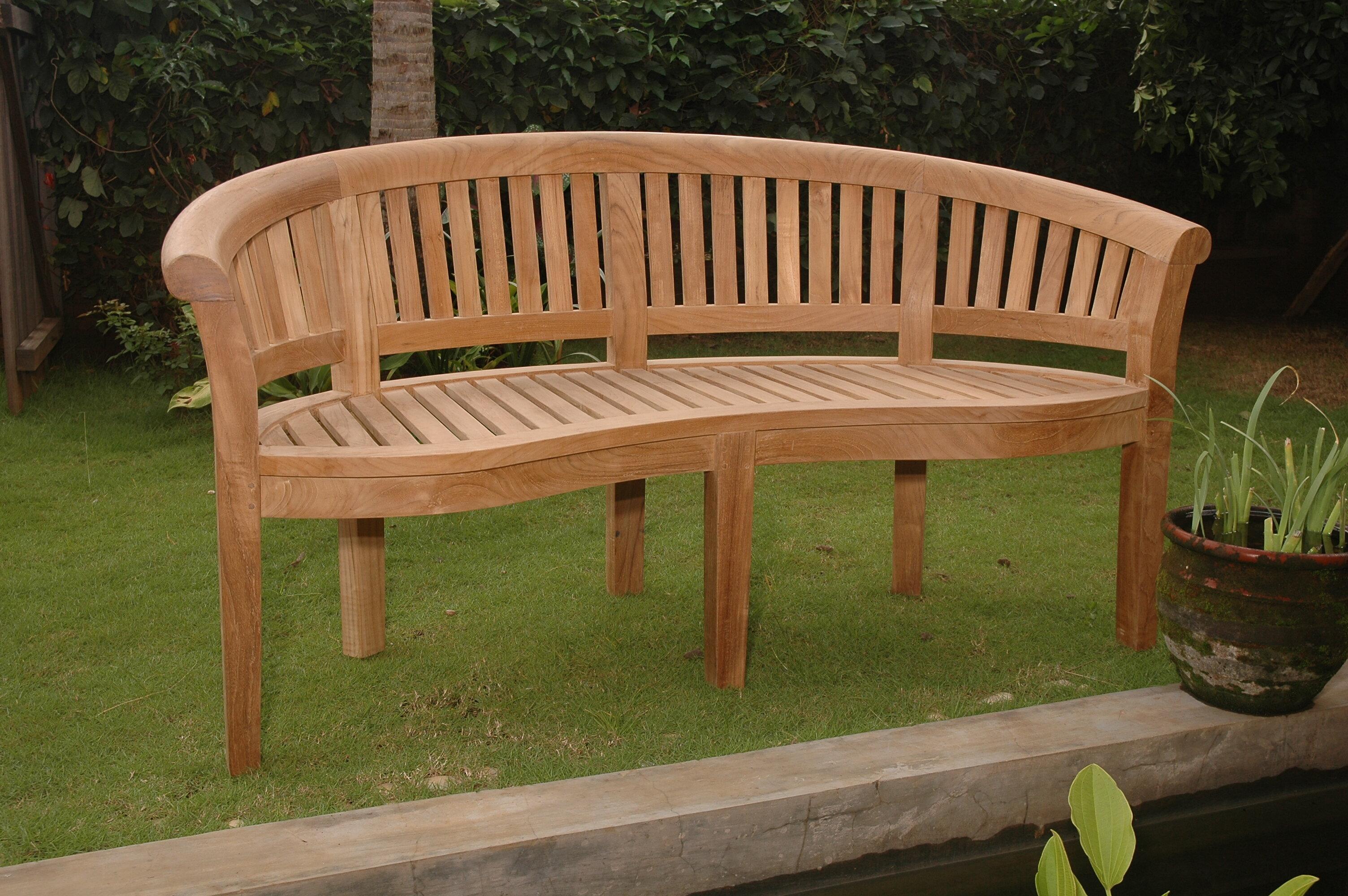 Bourdeau Teak Garden Bench