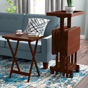 6 Piece Snack Tray Table Set