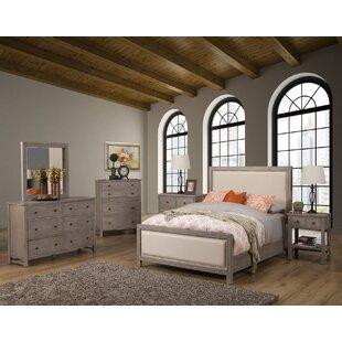 Lark Manor Burgundy Panel Configurable Bedroom Set