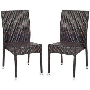 Safavieh Newport Stacking Patio Dining Chair (Set of 2)