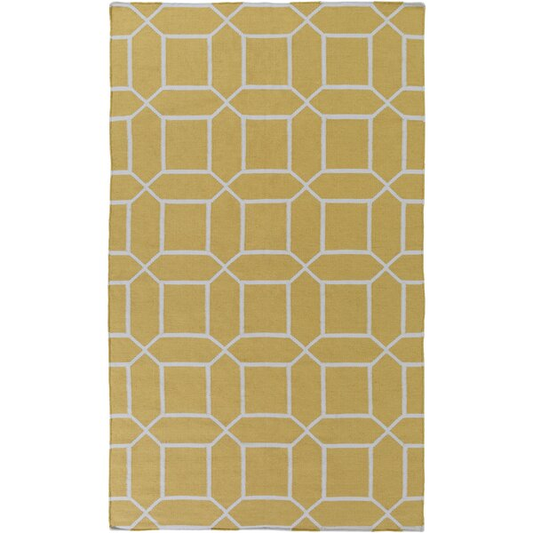 Charlton Home Larksville Geometric Handwoven Wheat Area Rug Wayfair