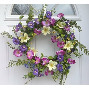 Silk flower wreaths wayfair cool summer morning silk floral wreath mightylinksfo