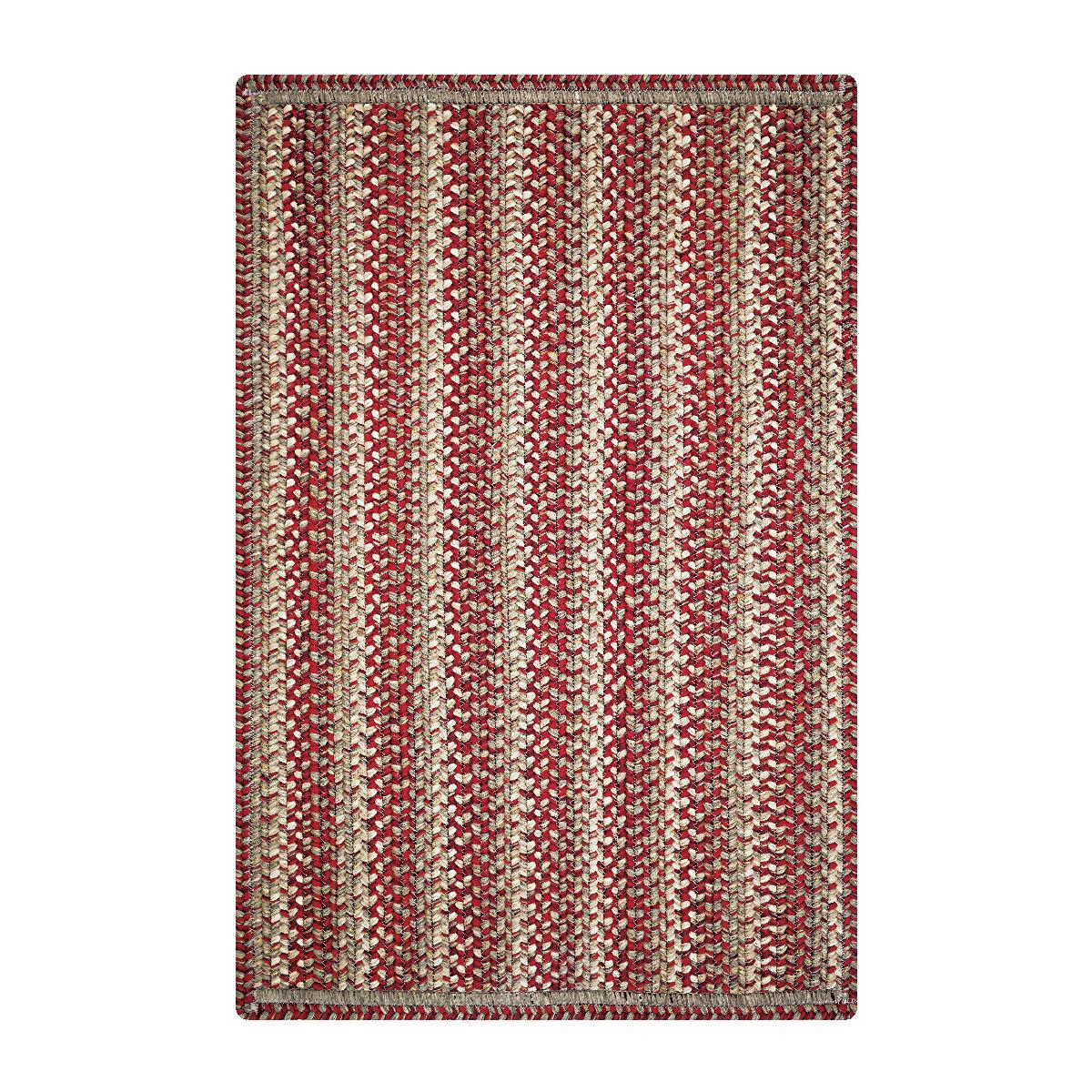 August Grove Emilee Hand Braided Red Area Rug Wayfair