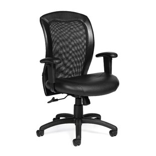 Offices To Go Luxhide Mid-Back Mesh Desk Chair