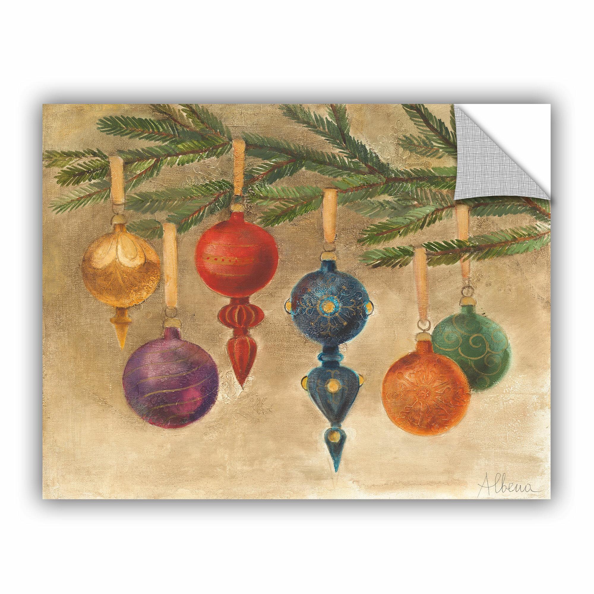 Artwall Albena Hristova Christmas Ornaments Removable Wall Decal Wayfair