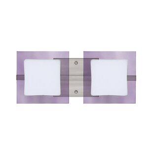 Latitude Run Catella 2-Light Glass Vanity Light