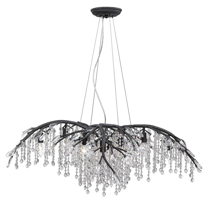 House Of Hampton Berryman 12 Light Unique Geometric Chandelier With Crystal Accents Reviews Wayfair