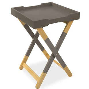 Reidy Folding Serving Tray Table by Wrought Studio