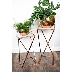 Sidra Marble Top Plant Stand By Fairmont Park