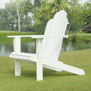 Bay Harbor Islands Acacia Wood Adirondack Chair by Beachcrest Home