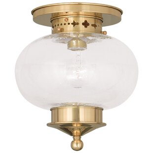 Reviews Shielo 1-Light Semi Flush Mount By Longshore Tides