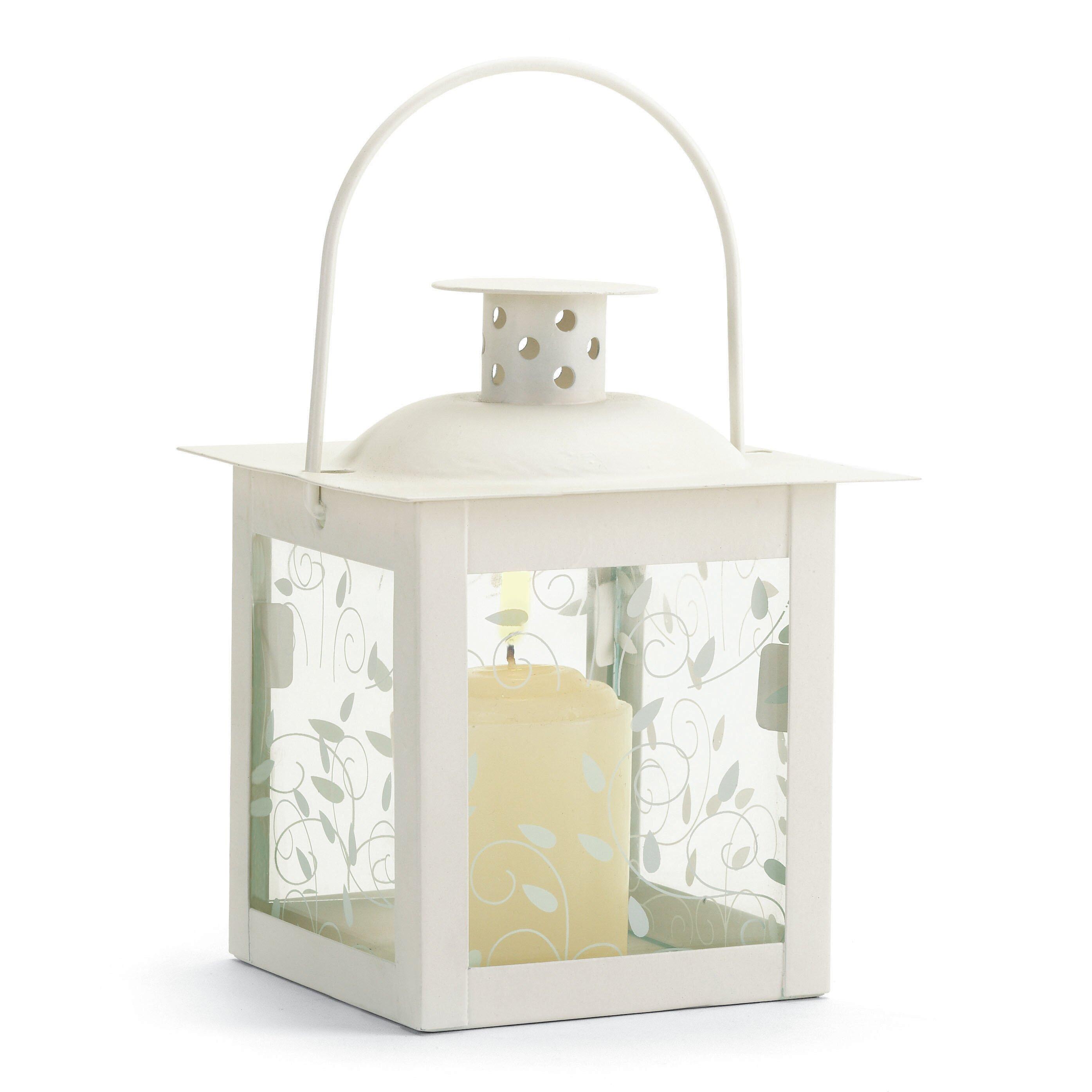 Winston Porter Petite Ivory Vine Square Small Glass And Metal Lantern Reviews Wayfair