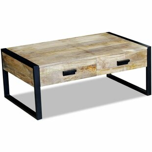 Burkes Solid Mango Wood Coffee Table With Storage By Williston Forge