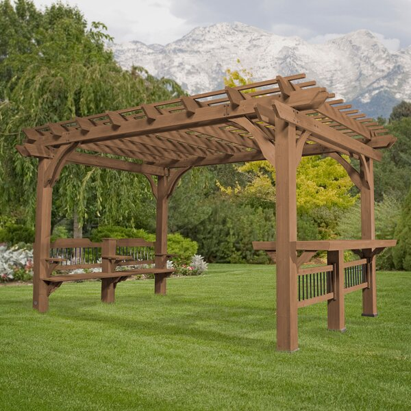 Admirable Pergola With Bench Wayfair Pdpeps Interior Chair Design Pdpepsorg