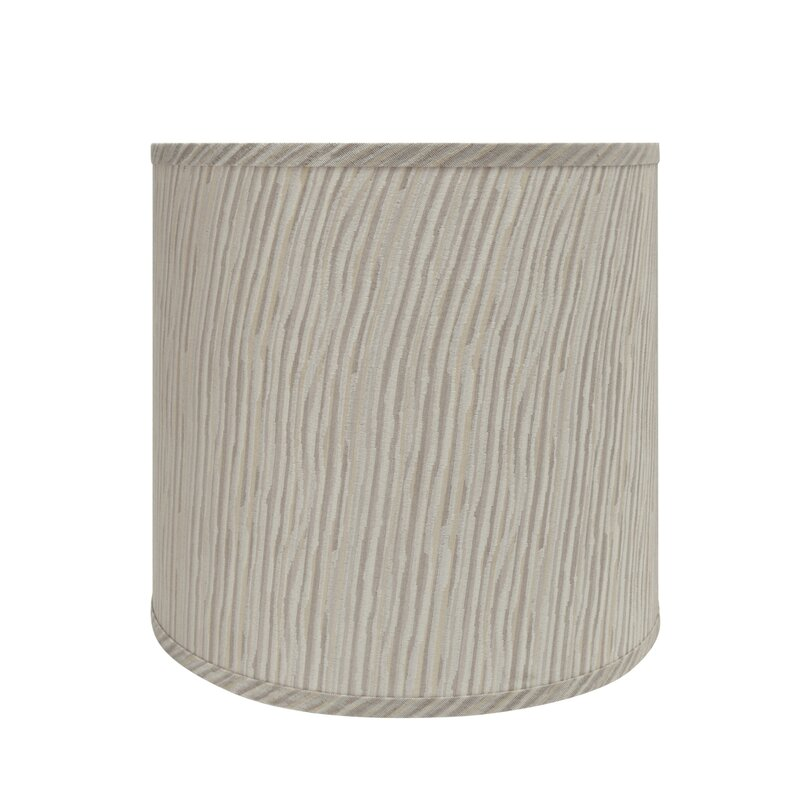 Transitional 13 Fabric Drum Lamp Shade In Striped