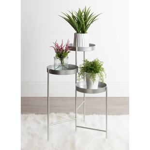 6ba84e2b9a73 Nickel & Silver Plant Stands & Tables You'll Love | Wayfair