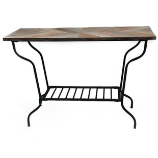 Pennell Metal and Wood Top Console Table
