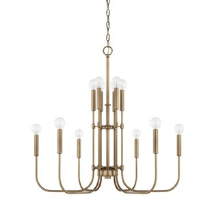 Buy luxury Nyack 12-Light Candle-Style Chandelier By Mercury Row