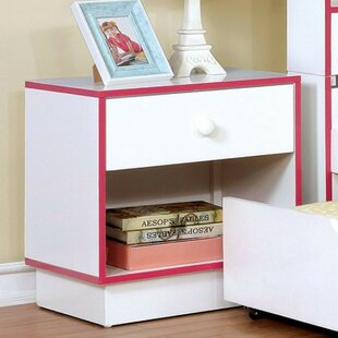 Fogelson Wooden 1 Drawer Nightstand by Latitude Run