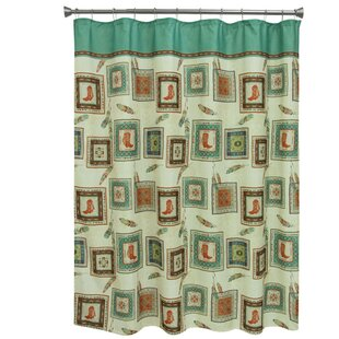 Southwest Boots Polyester Single Shower Curtain