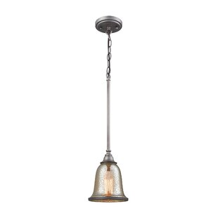 Fleur De Lis Living Waller 1-Light Bell Pendant