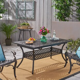 Ginsberg Metal Dining Table by Fleur De Lis Living