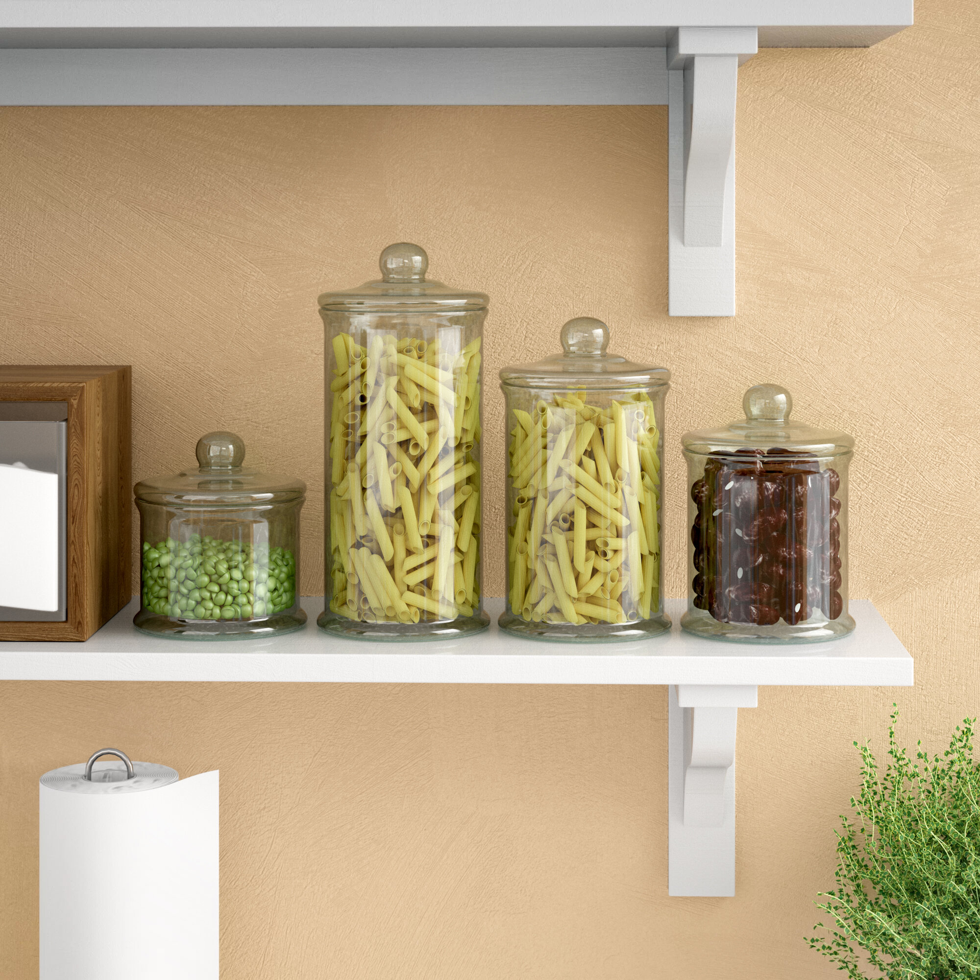 Clear Kitchen Canisters Jars You Ll Love In 2021 Wayfair