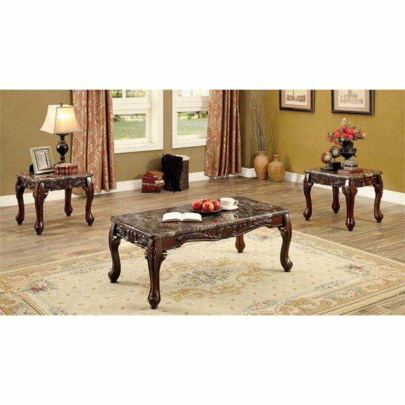 Zellner 3 Piece Coffee Table Set