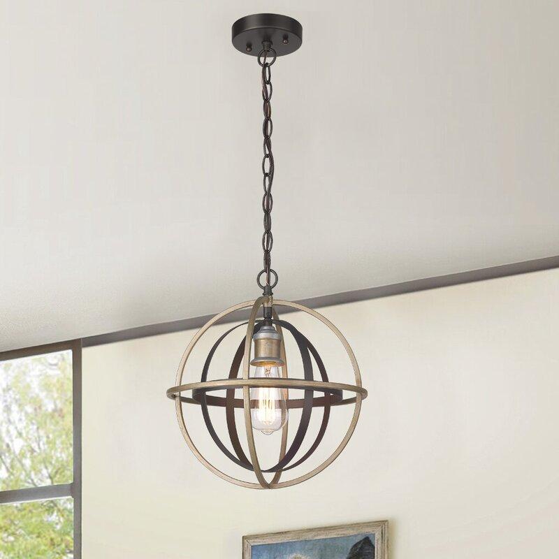 Mercer41 Set Antique Bronze 1 Bulb 13.39'' H Outdoor Hanging Lantern