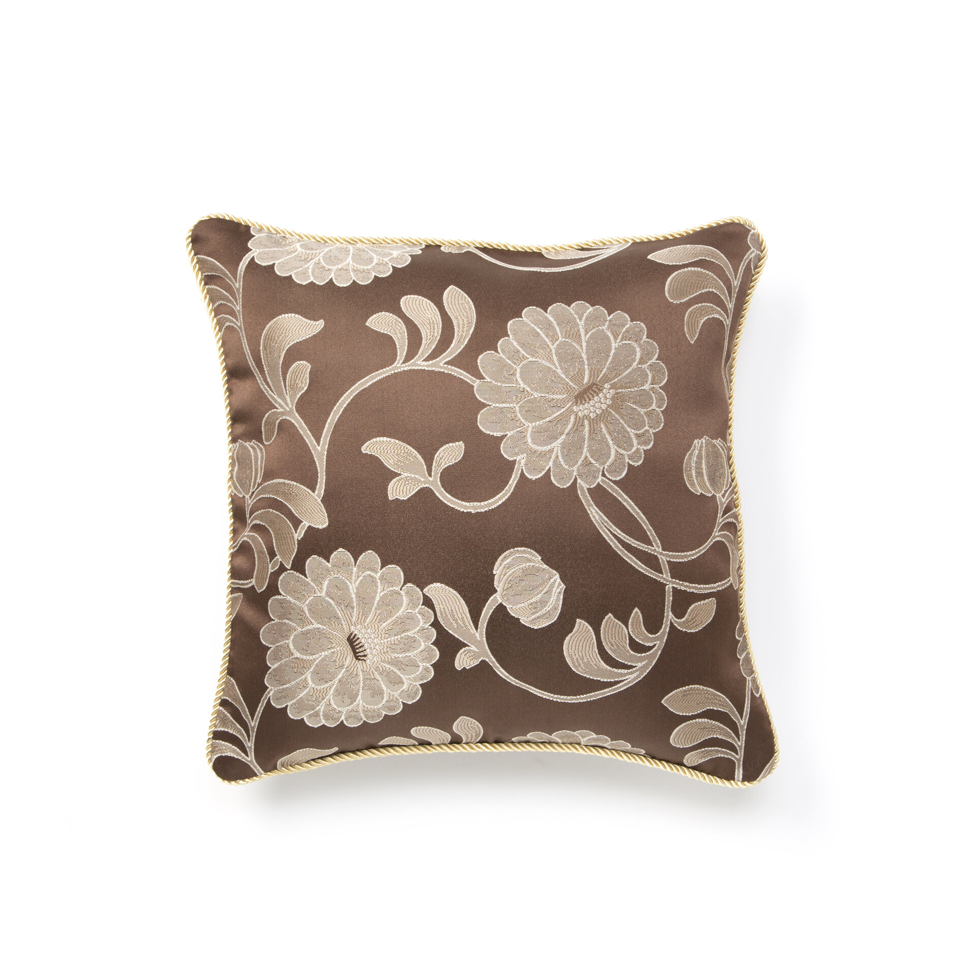 Charlton Home Wieland Decorative Floral Flower 18 Throw Pillow Cover Reviews Wayfair