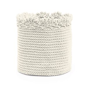 Reviews Chalmers Crochet Fabric Storage Basket By August Grove
