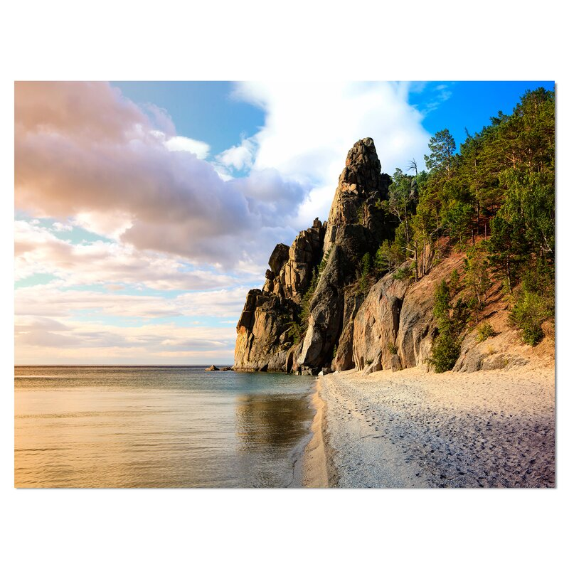 East Urban Home Rocks On The Shore Of Lake Baikal Photographic Print On Wrapped Canvas Wayfair