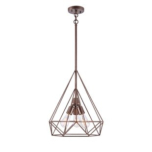 Great choice Barajas Diamond 3-Light Geometric Chandelier By Wrought Studio