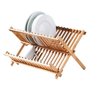 Reynalda Folding Dish Rack in Natural by All Home