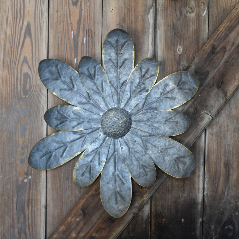 Metal Flower Zinnia Wall Decor Reviews Joss Main