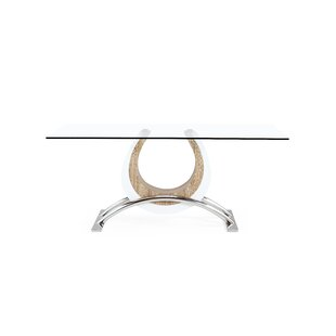 Brayden Studio Kimbell Horseshoe Base Dining Table