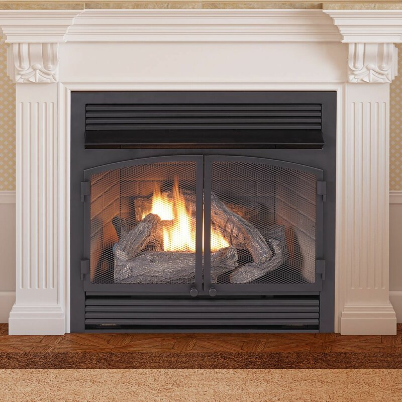 duluth forge vent free recessed natural gas propane fireplace insert rh wayfair com where to buy electric fireplace inserts where to buy electric fireplace inserts