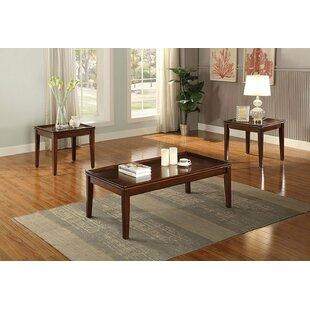 Canora Grey Sagunto Wooden 3 Piece Coffee Table Set