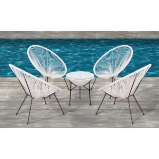 Wrought Studio Moises 5 Piece Conversation Set