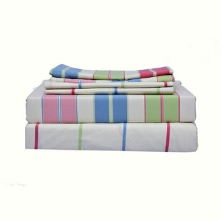 Romig Contemporary Co-ordinated Yarn Dyed 300 Thread Count Striped 100% Cotton Sheet Set