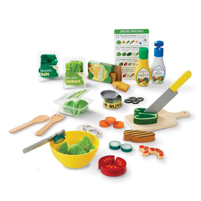 Slice And Toss Salad Play Food Set