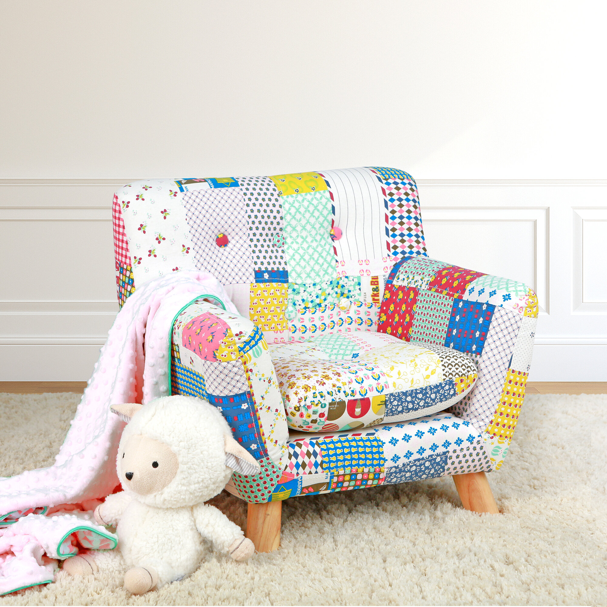 Prime Jacey Patchwork Kids Chair Pdpeps Interior Chair Design Pdpepsorg