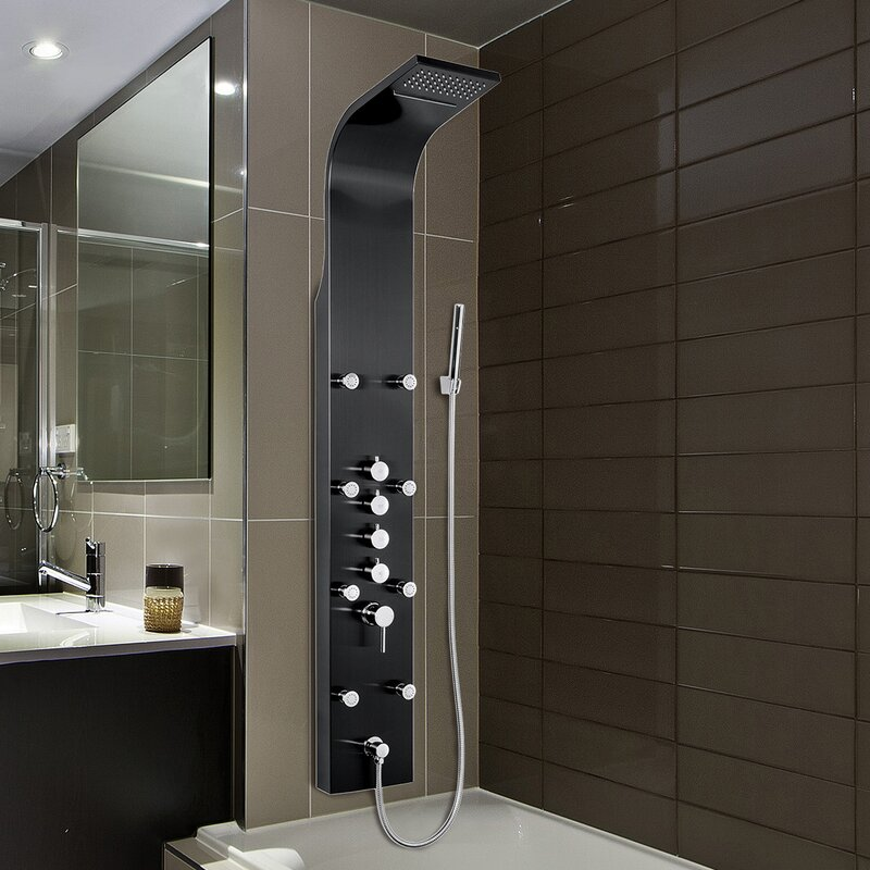 AKDY Rainfall Waterfall Stainless Steel Volume Control Fixed Shower ...