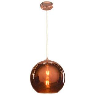Oldenburg 1-Light Globe Pendant by Wrought Studio
