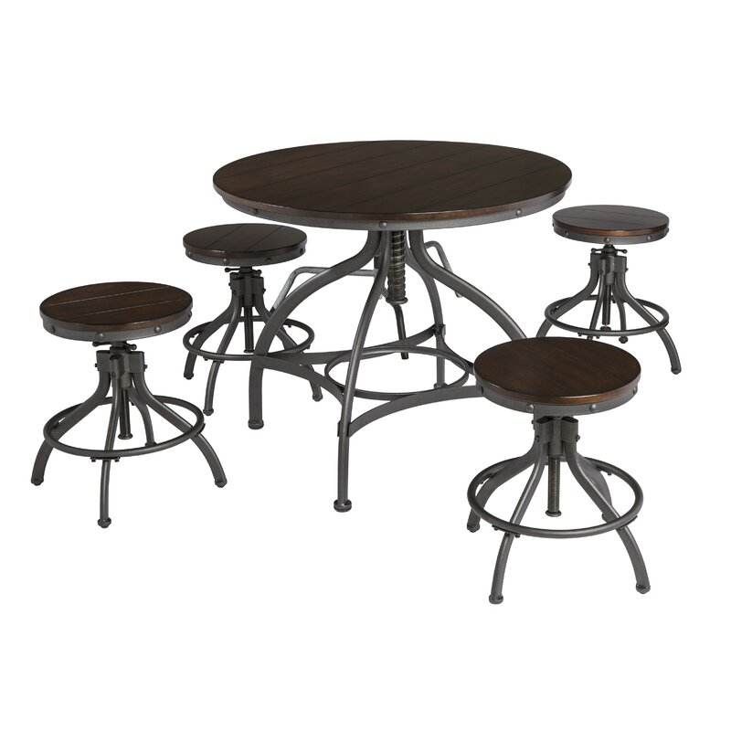 Yvette 5 Piece Counter Height Dining Set