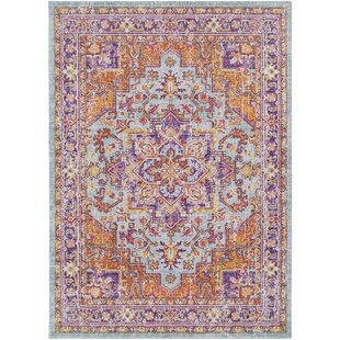 Reviews Kahina Lavender/Purple Area Rug By Bungalow Rose