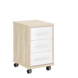 Akiko 3 Drawer Filing Cabinet By Ebern Designs